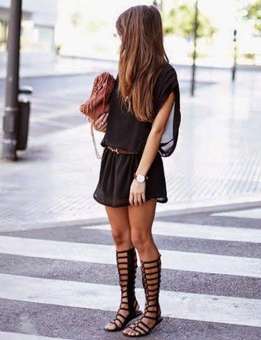 look dia vestido preto