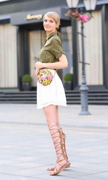 bolsa com estampa floral