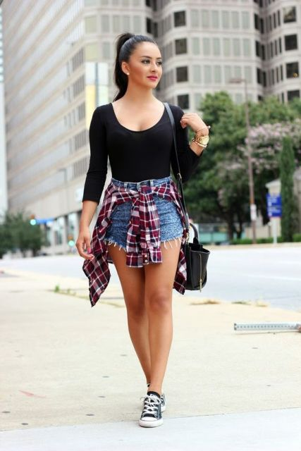 short hot pants - camisa
