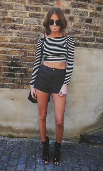 short hot pants - preto