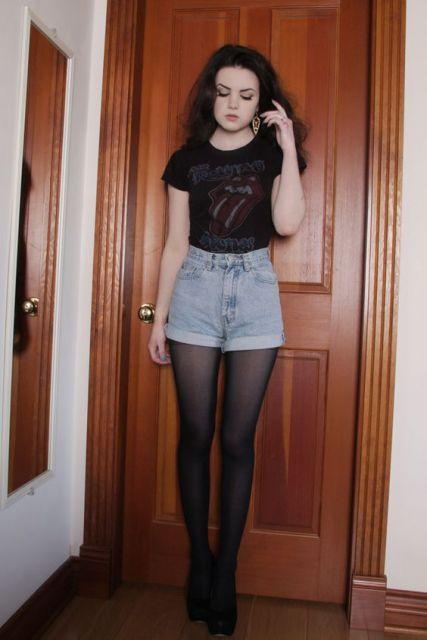 short hot pants rocker