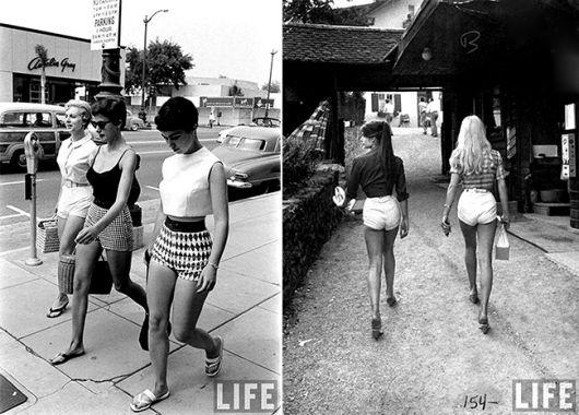 short hot pants - vintage