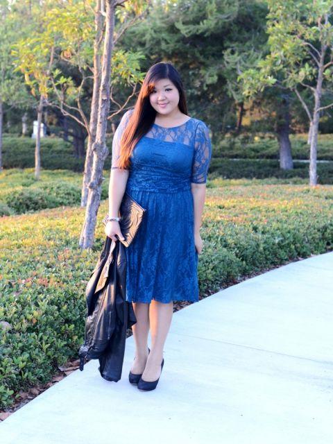 modelo azul plus size