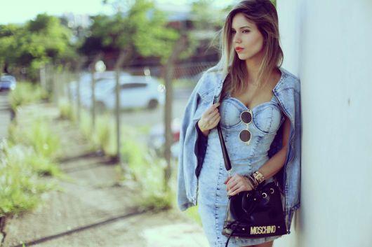 vestido jeans claro sensual