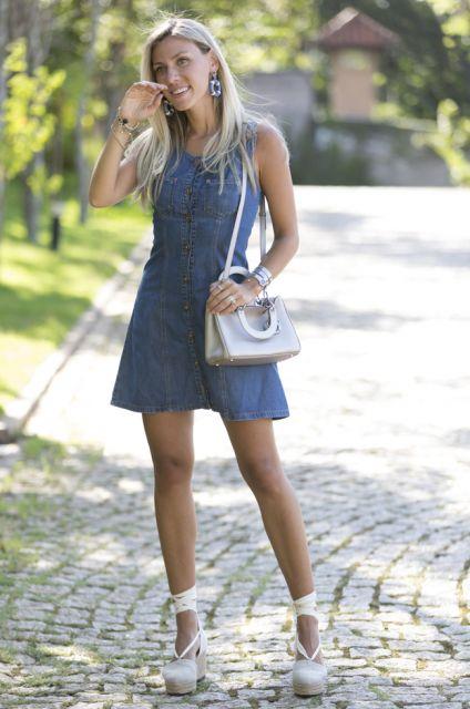vestido jeans look blogueira