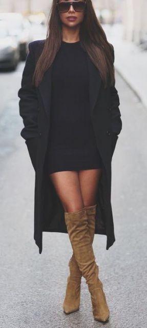 vestido tubinho preto frio