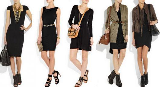 vestido tubinho preto maneiras de usar