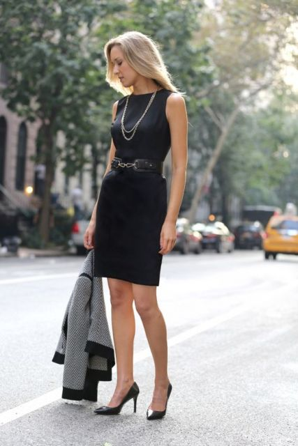 vestido tubinho preto para trabalhar