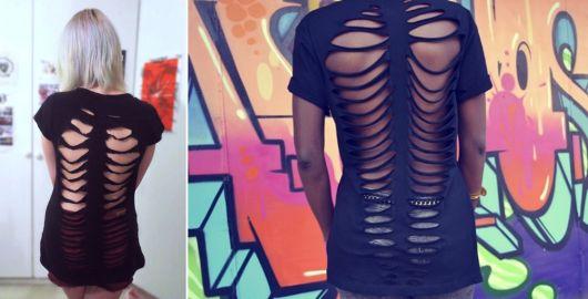 modelo de blusa customizada cortada