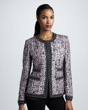 casaco tweed clássico