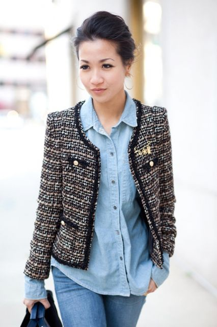 casaco tweed curtinho