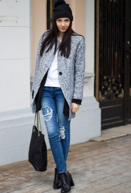 casaco tweed no closet feminino
