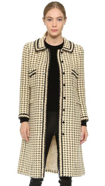 casaco tweed longo