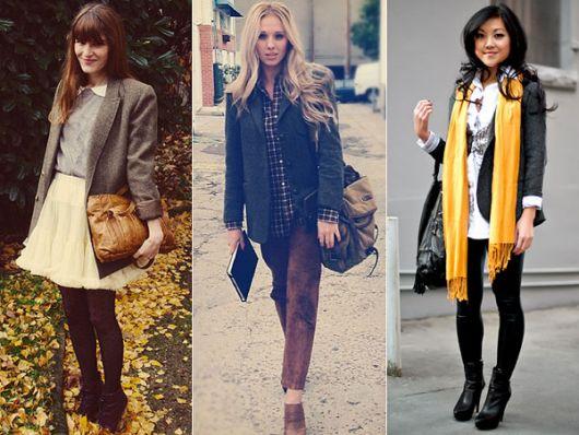casaco tweed moderno