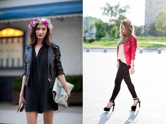 exemplo elegante de como usar coroa e tiara de flores