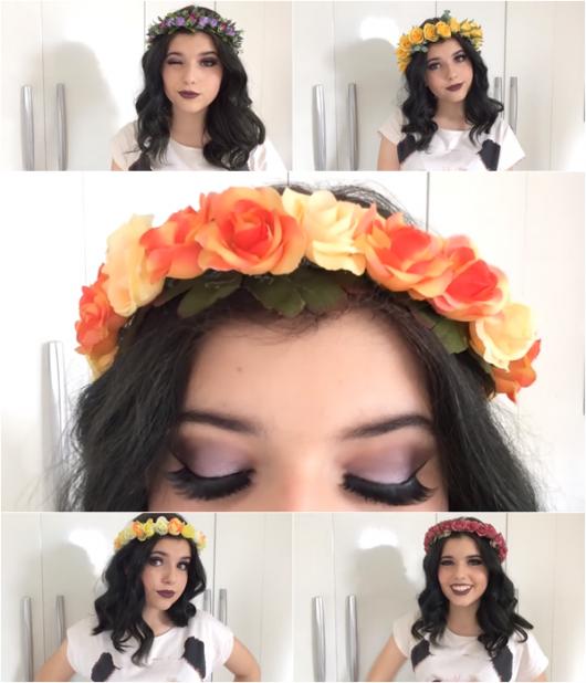 exemplo de como fazer coroa e tiara de flores