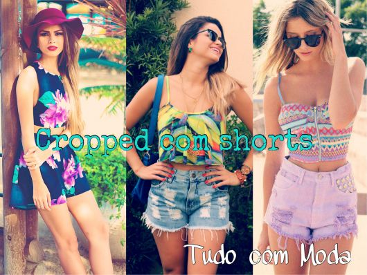 cropped com shorts