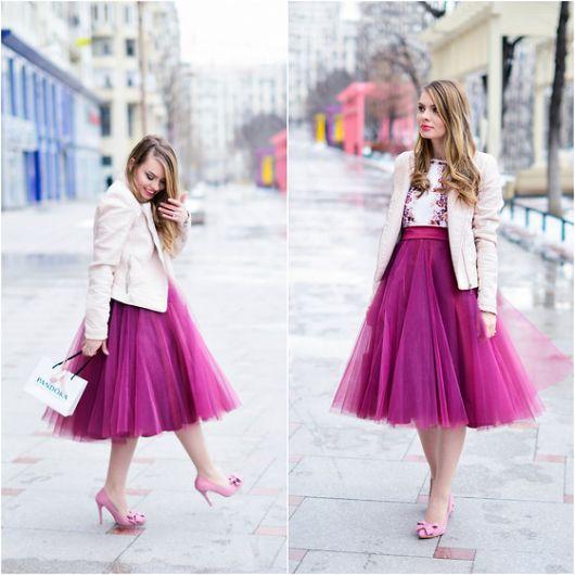 vestidos fofos com sapato rosa