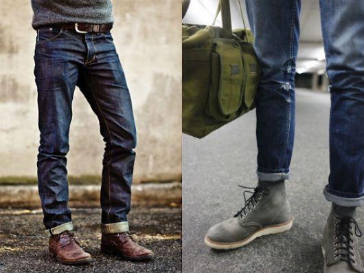 homem também usa calça dobrada