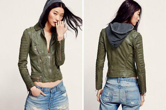 ideias de looks para jaqueta de couro com capuz