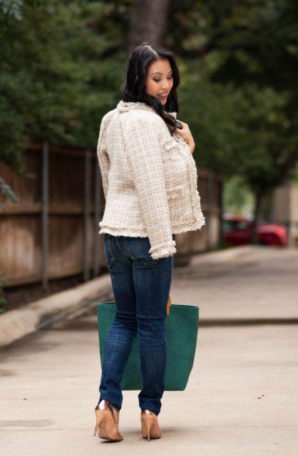 casaco tweed look fashion