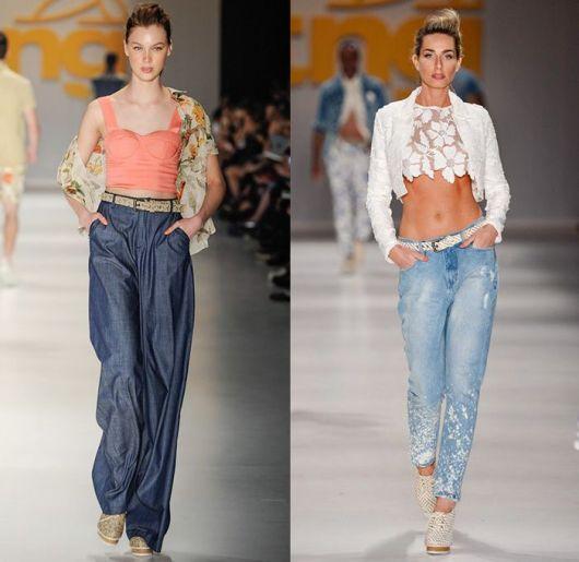 calça jeans em looks de verão