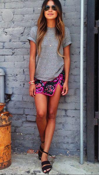 looks de verão com mini saia