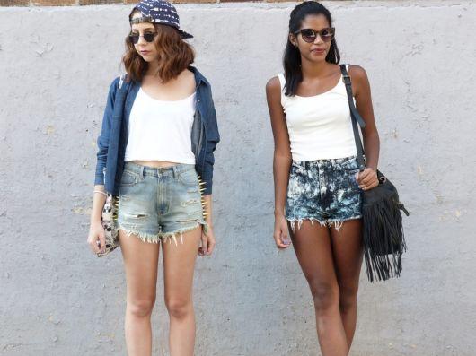 short jeans em looks de verão