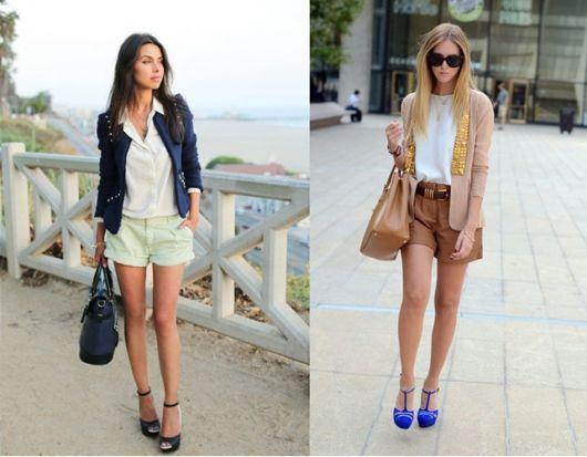 ideias de shorts para looks de verão