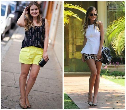 looks de verão com shorts de tecido