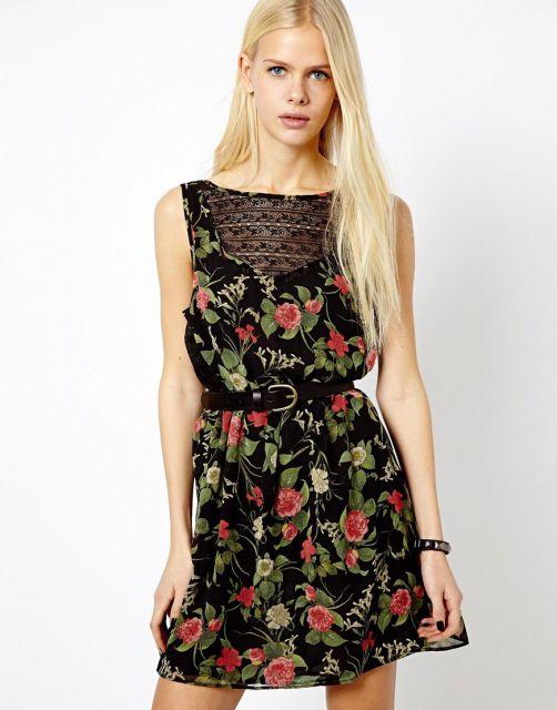 looks para festa com vestido de flores