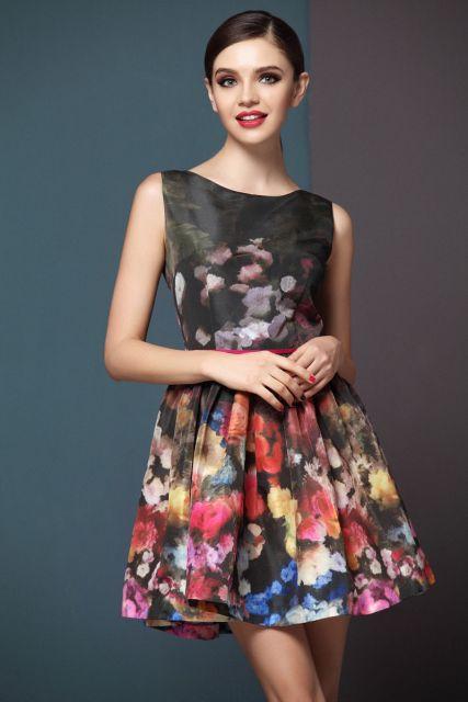 looks para festa com vestido floral
