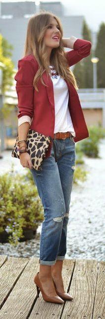 looks para festa formal com calça jeans