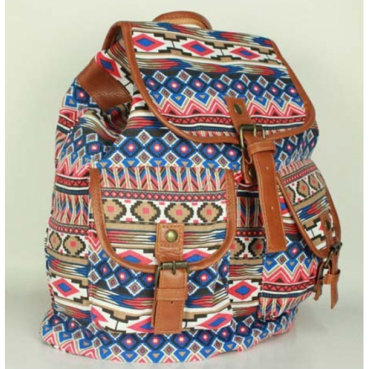 mochila étnica escolar