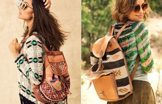 combinar com mochila étnica com blusa