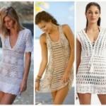 Saídas de praia de crochê: 73 modelos da moda e receitas!