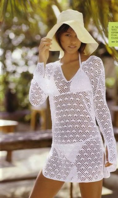 90e3853aa Saídas de praia de crochê  73 modelos da moda e receitas!