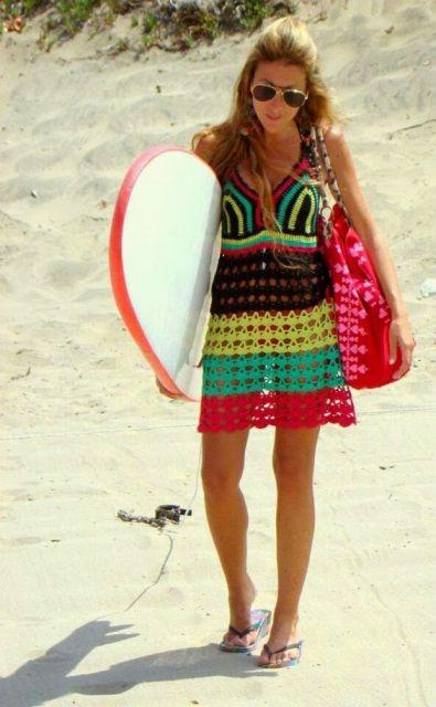 bolsa de tecido praia