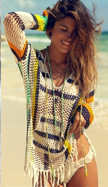 ca96cf1af4 Saídas de praia de crochê  73 modelos da moda e receitas!
