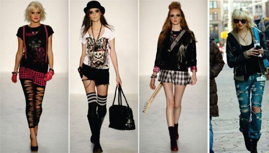 punk e suspensório feminino