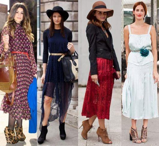 vestidos com tamanco de madeira