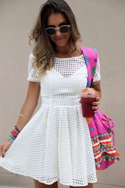 vestido de lese branco casual