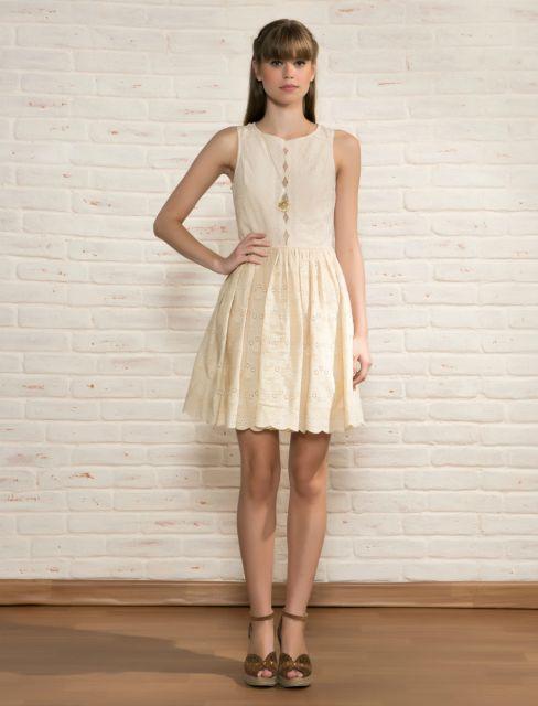 vestido de lese colorido