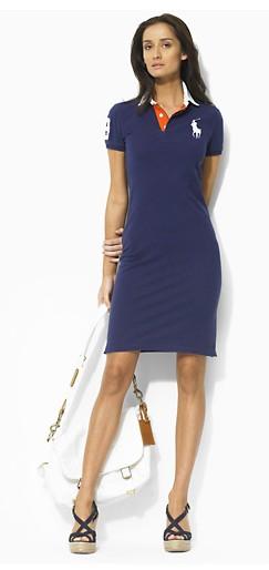 vestido polo curto azul