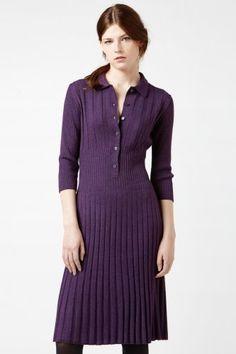 vestido polo de lã