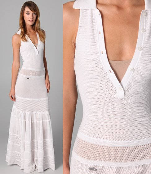 vestido polo longo branco