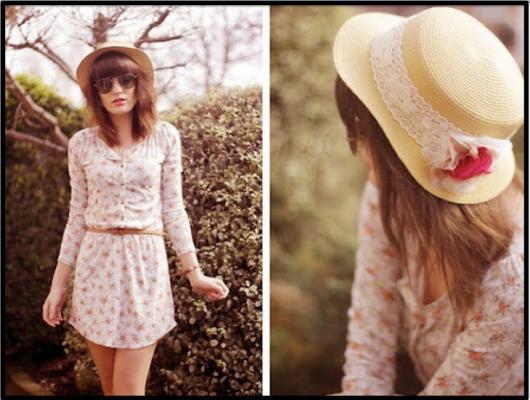 vestidos fofos com chapéus