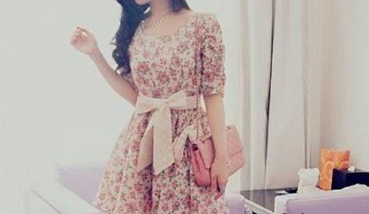 vestidos fofos florais com laço