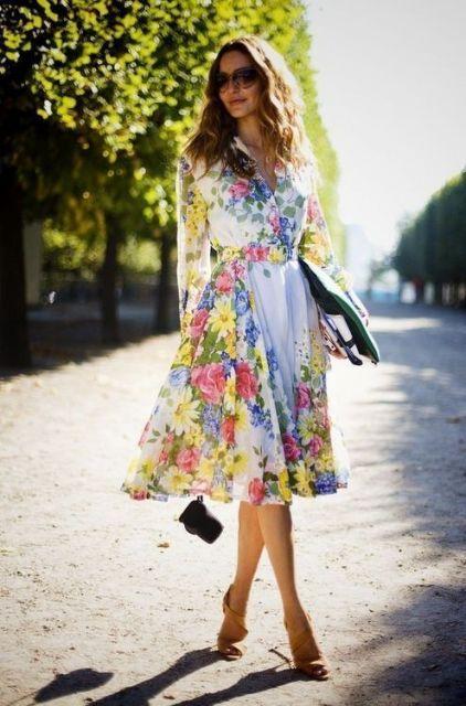 vestidos fofos com estampa de flores