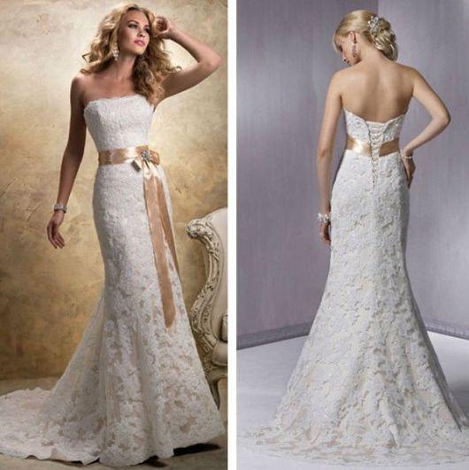 Vestido-de-noiva-de-crochê- com cauda